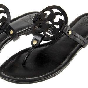 MILLER Tory Burch matte leather sandal thong slide